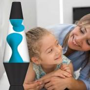 """Lava Lamp Neon Blue/Clear - 14.5"""" LAVA Brand  2"""