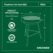 """14"""" Steel BBQ Barbeque  4"""