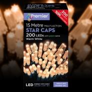 15m Star Cap Fairy Lights Warm White 3