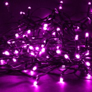 Solar String Lights 160 LED by Gloworm  5 Pink