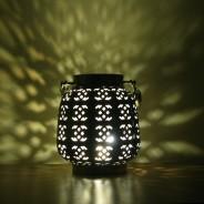 18cm Filigree Hessian Lantern 4