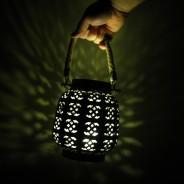 18cm Filigree Hessian Lantern 5