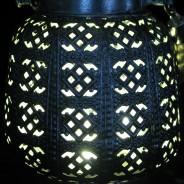 18cm Filigree Hessian Lantern 6