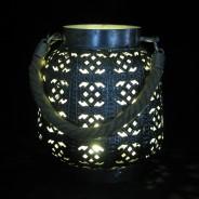 18cm Filigree Hessian Lantern 2