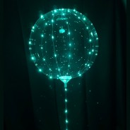 "5 x 15"" Jellyfish Balloon Lamp with Stand  7"