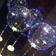 "5 x 15"" Jellyfish Balloon Lamp with Stand  1"
