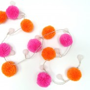 20 Neon Pom Pom Fairy Lights 2