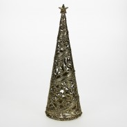 24cm Christmas Tree Table Decoration  7 Gold