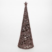 24cm Christmas Tree Table Decoration  5 Rose Gold