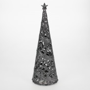 24cm Christmas Tree Table Decoration  6 Silver