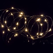 25 LED Wire Lights with Timer 2 Warm White