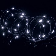 25 LED Wire Lights with Timer 3 White