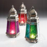 27cm Pyramid Moroccan Lantern 1 Single lantern supplied