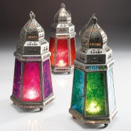 27cm Pyramid Moroccan Lantern 2 Single lantern supplied