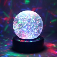 "3"" Light Up Glitter Ball 1"