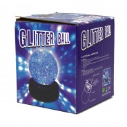 "3"" Light Up Glitter Ball 10"