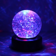 "3"" Light Up Glitter Ball 2"