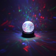 "3"" Light Up Glitter Ball 6"
