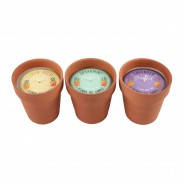 3 x Fragranced Flower Pot Candles 2