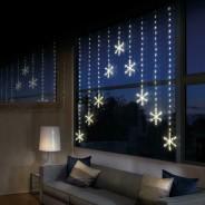 339 LED Snowflake Light Curtain 1