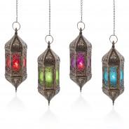 37cm Hanging Moroccan Lantern 2