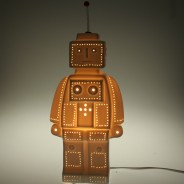 3D Ceramic Lamp Robot 3