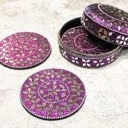 Glitter Coasters in Tin (4 pack) 1
