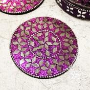 Glitter Coasters in Tin (4 pack) 2