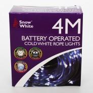 40 LED Multi Function Rope Light B/O 9 Cool White