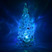 "5"" Clear Crystal Colour Changing Xmas Tree 2"