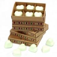 Soy Wax Heart Melts (6 pack) 3 Mint Menthol