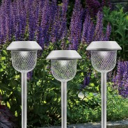 6 x Mesh Solar Stake Lights 1