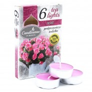 Scented Tealight Candles (6 pack)  5 Rose