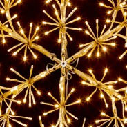 60cm Gold Starburst Snowflake Decoration 2