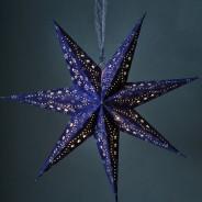 60cm Velvet 10 LED Star 2 Blue