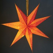 60cm Velvet 10 LED Star 3 Mustard