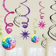 70's Disco Swirls Decorations 2