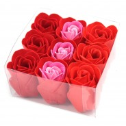 9 x Red Rose Soap Flowers 3