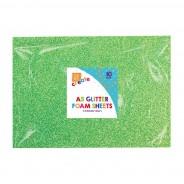 A5 Glitter Foam Sheets (10 pack) 3 2 x green foam sheets