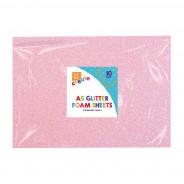 A5 Glitter Foam Sheets (10 pack) 4 2 x pink foam sheets