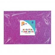 A5 Glitter Foam Sheets (10 pack) 6 2 x purple foam sheets