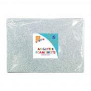 A5 Glitter Foam Sheets (10 pack) 5 2 x silver foam sheets