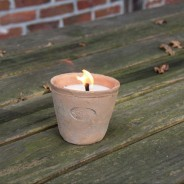 Aged Terracotta Candle 1