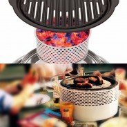 BCO Alfresco Smokeless Charcoal BBQ Grill 3
