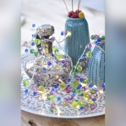 Aqua Crystal Chic Battery Operated Fairy Lights 3