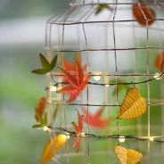 Autumn Leaves Metal Floral String Lights 4