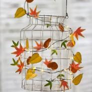 Autumn Leaves Metal Floral String Lights 5