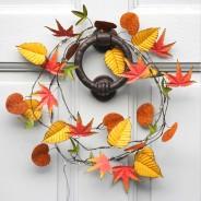 Autumn Leaves Metal Floral String Lights 6