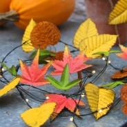Autumn Leaves Metal Floral String Lights 7