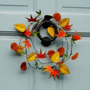 Autumn Leaves Metal Floral String 2